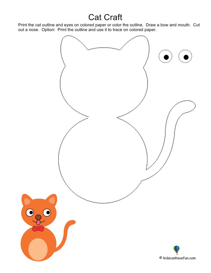 34 best crafts cat dog theme images on pinterest for Cat crafts for toddlers