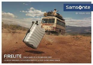Les collections de valises, sacs, bagages, ... Samsonite en solde jusqu'à -30%