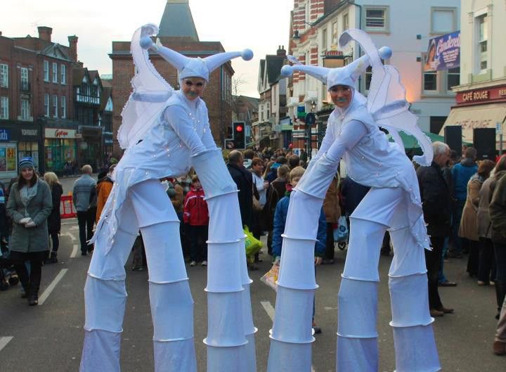 Adult tree costume with stilts can ask
