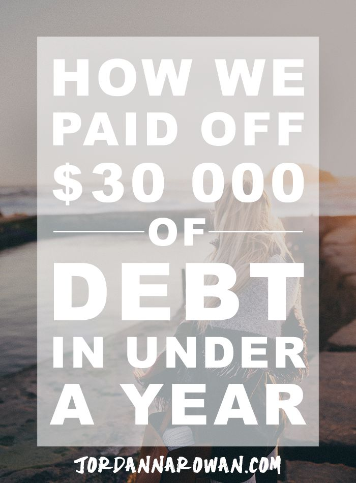 How We Paid Off $30,00 of Debt in Less Than a Year. In 2015, I dropped out of my graduate program, launched my online business, and got married. I also found myself saddled with $30,000 of student debt that needed paying off. Here's how we did it (and how you can apply these principles to your own situation).