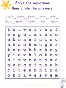 Division word find? You bet! Enjoy!