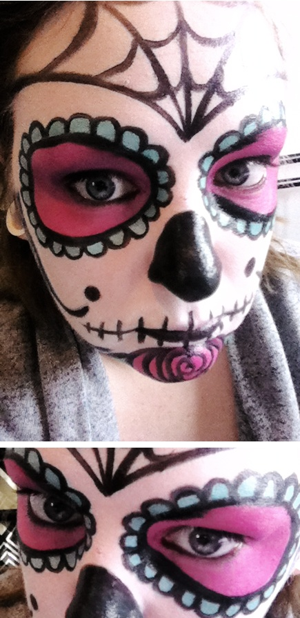 Halloween makeup suggestions - Sugar skull by Jess Heath