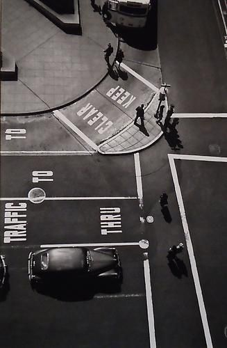 post and powell street, union square, san francisco, 1947 • fred lyon