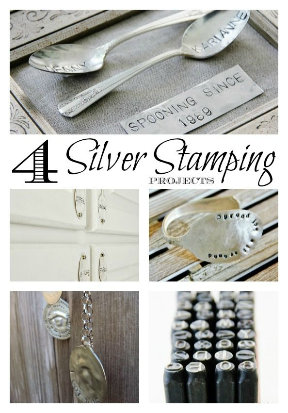 Looking for some unique hand-made gift ideas? Here's four fun silver stamping projects at thistlewoodfarms.com