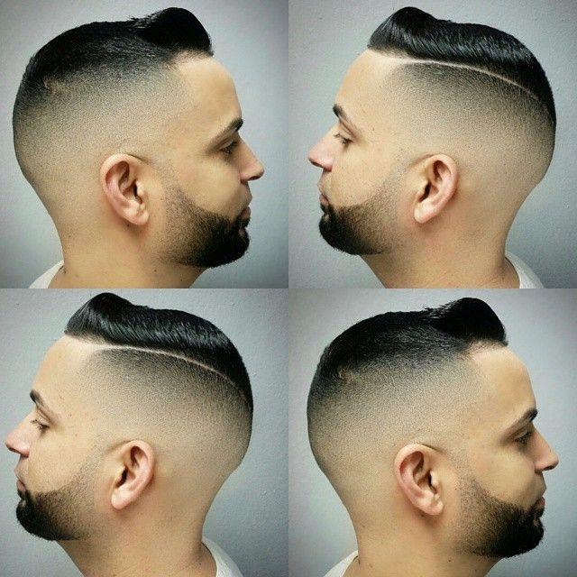 Both sides of this blurryfade razorpart combover styled w / @elegancegel VB5 extra strong gel #teamelegance #barbershopconnect #barbersinctv #nastybarbers #zaramen #nbastyles @barbershopconnect...