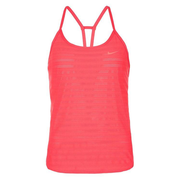 Strappy Tennistank Damen    Das Strappy Tennistank ist der ideale Begleiter wenn du an warmen Sommertagen noch einmal in den Tiebreak musst.     Das Dri-FIT-Material leitet Schweiß ab und sorgt für ein trockenes, angenehmes Tragegefühl. Das leichtgewichtige und perforierte Material sorgt für ausreichend Atmungsaktivität, damit du deinem Gegner auch bei Hitze dein Spiel aufzwingen kannst. Die dü...