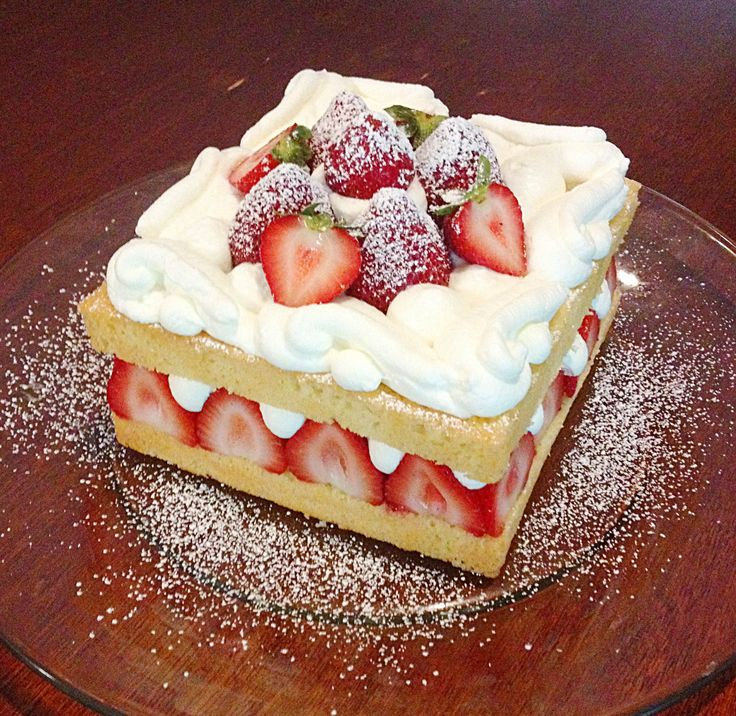 Strawberry Chiffon Shortcake Recipe — Dishmaps