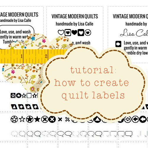 Tutorial how to create quilt labels by Vintage Modern Quilts