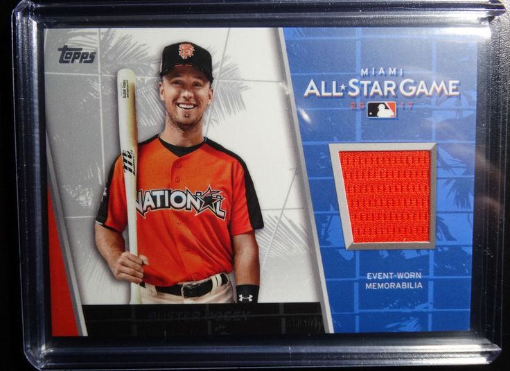 2017 Topps Update Buster Posey Giants All Star Stitches Material Relic Card #sfgiants #topps #SanFranciscoGiants
