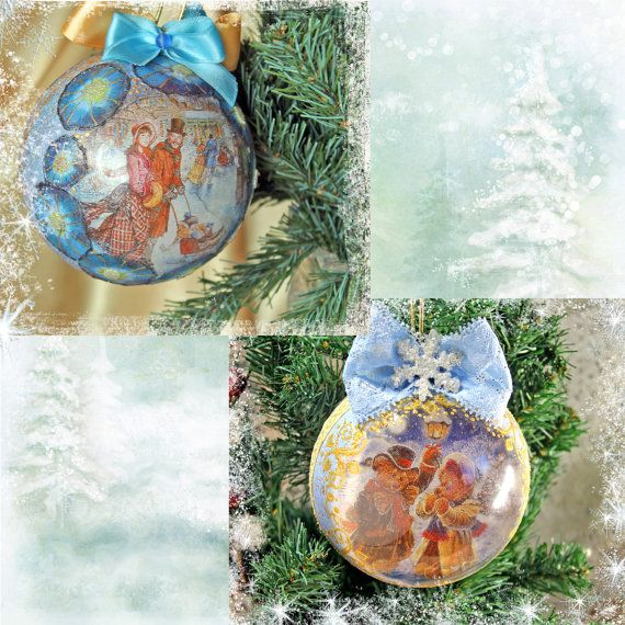 Personalized Christmas ball Christmas by Decoupagemiracles on Etsy