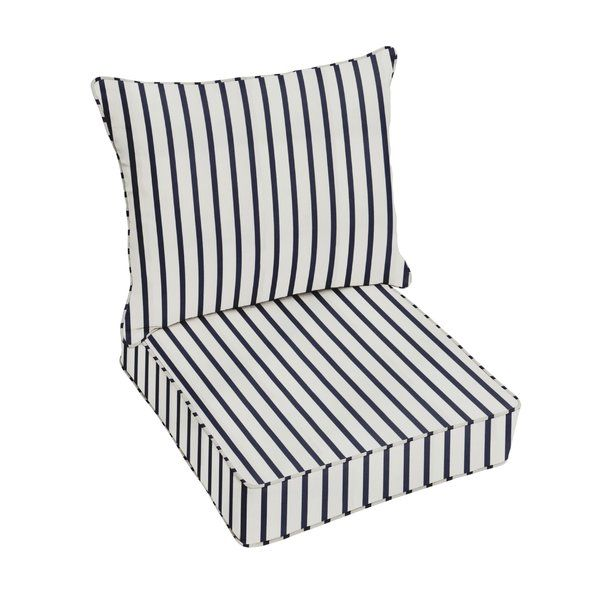 Whitten Stripe Indoor Outdoor Sunbrella Lounge Chair Cushion Outdoor Seat Cushions Outdoor Chair Cushions Indoor Outdoor Chair