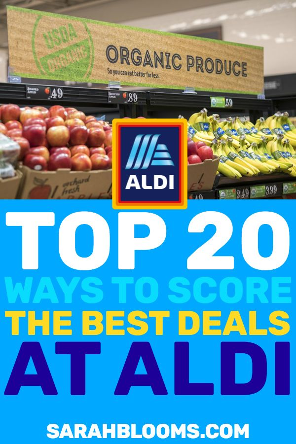 20 Ways To Score The Best Deals At Aldi With Images Saving