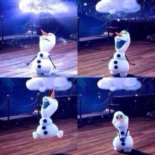 Olaf 'my own personal flurry!'