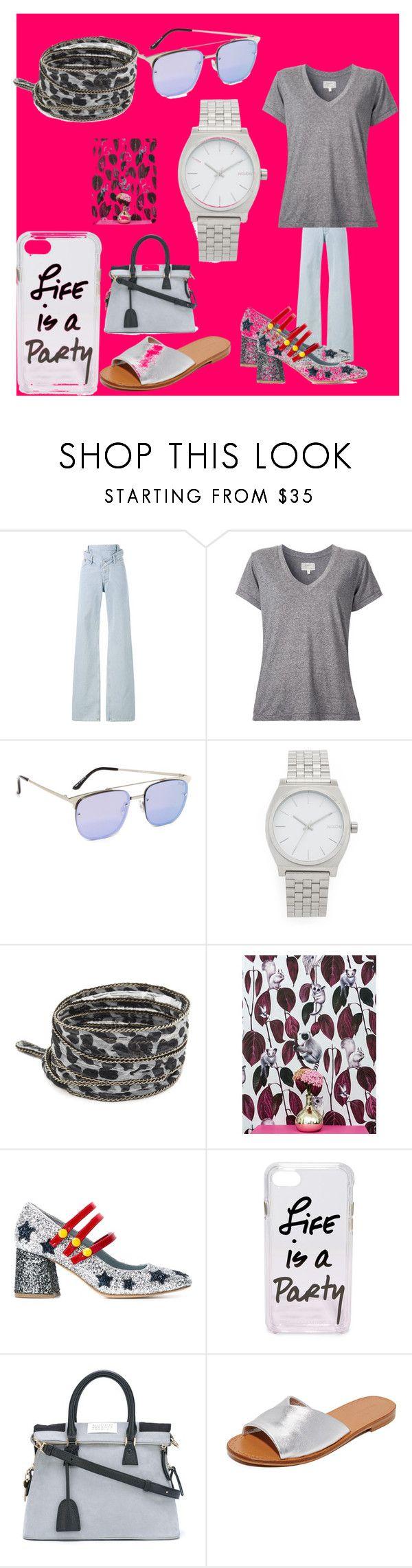 """best fashion sale"" by denisee-denisee ❤ liked on Polyvore featuring Y/Project, Current/Elliott, Quay, Nixon, Chan Luu, Witch & Watchman, Chiara Ferragni, Rebecca Minkoff, Maison Margiela and Diane Von Furstenberg"