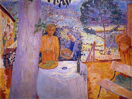 """Pierre Bonnard """"The Terrace at Vernonnet"""", 1939:"""