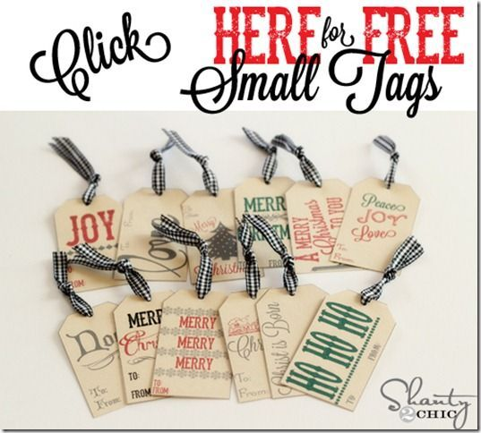 Click Here for Free Small Tags