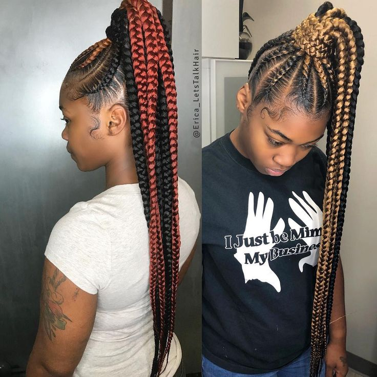 Image May Contain 2 People Feed In Braids Ponytail