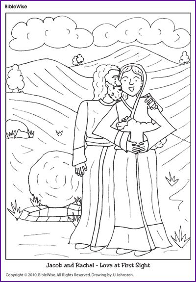 Coloring (Jacob and Rachel) - Kids Korner - BibleWise