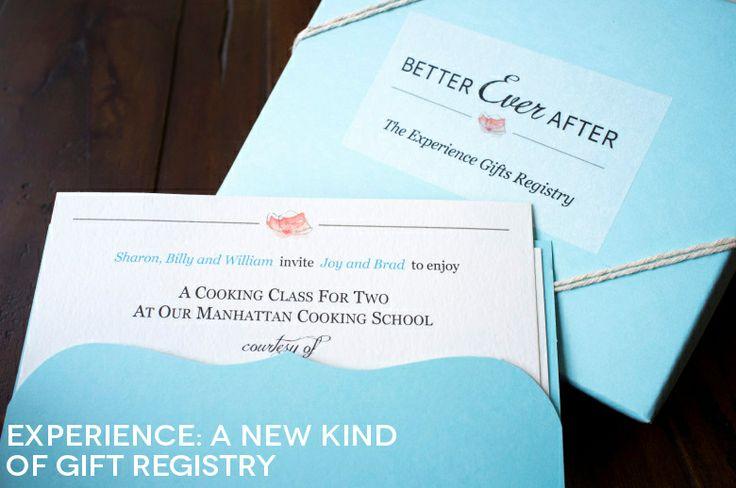 Experience Gift Wedding Registry   A Practical Wedding Regalar Experiencias!