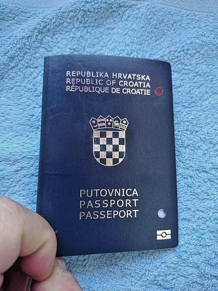 Expired Biometric Passport Of Croatia Very Rare Biometric Passport Passport Biometrics