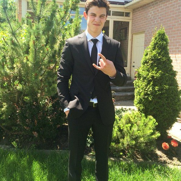 "Pin for Later: 16 Times Shawn Mendes Was Just Too Cute When He Posed For a Prom Pic ""Hahaha"""