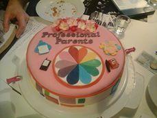 taart met professional partents logo's en diverse decoraties...
