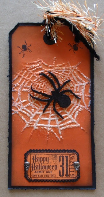 Uses diffusers to emboss only one spider web on the tag  Frilly and Funkie: FRIDAY FOCUS - Diffusers