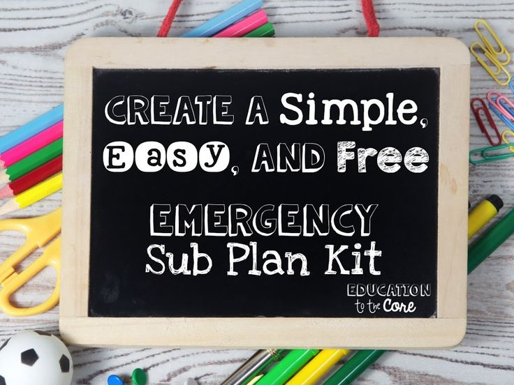 37 Best Images About Sub Planning Ideas On Pinterest