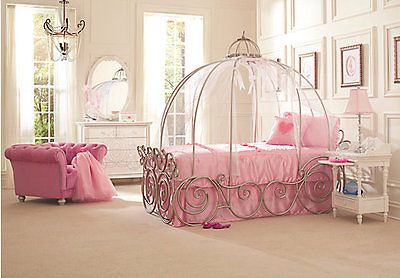 Disney Princess Full Size Carriage Bed with Pink Vail ! | Home & Garden, Kids & Teens at Home, Furniture | eBay!