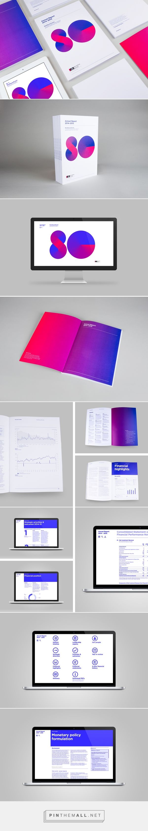 A not so reserved annual report | RBNZ on Behance... - a grouped images picture - Pin Them All