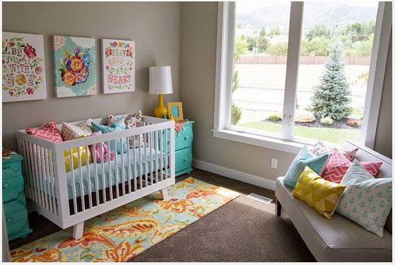 2015 baby nursery ideas from pantone spontaneity is about whimsical design and unique mash up - Unique girl nursery ideas ...