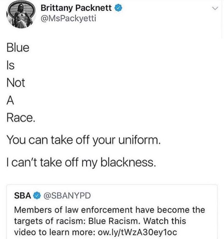 Blue is not a race.
