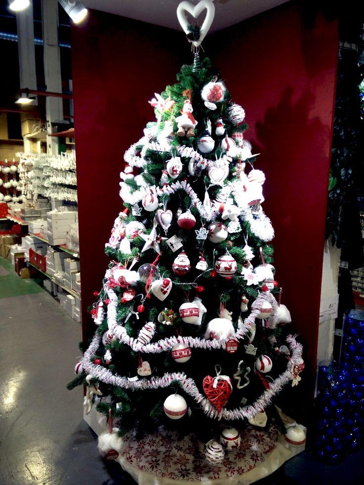 Albero di Natale Bianco e Rosso