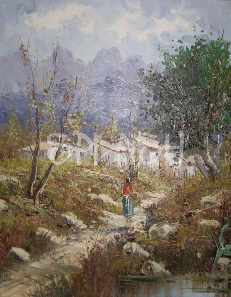 Cuadro de paisaje clásico SP393