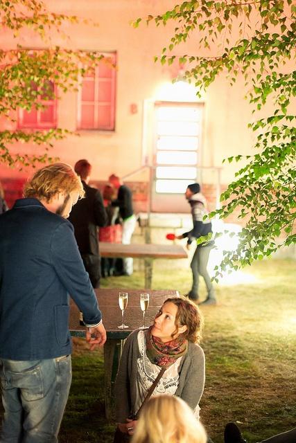 Champagne & table tennis by Maija Astikainen, Flow Festival 2012, via Flickr, Helsinki, Finland