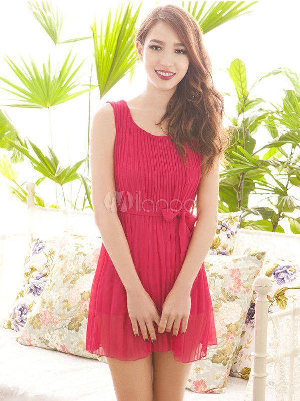 #Milanoo.com Ltd          #Mini Dresses             #Sweet #Polyester #Mini #Dress                      Sweet Red Bow Polyester Mini Dress                                            http://www.seapai.com/product.aspx?PID=5757908
