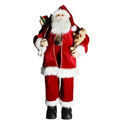 72 in. Standing Santa in Red/White. Decorate for the holidays with 72 in. Standing Santa in Red/White. This highly detailed Claus features a velvet suit and a big bag of goodies. The traditional aesthetic reminds us of the meaning for the season. About Sterling, Inc. Located in Kansas City, MO, Sterling, Inc. carries an impressive, diverse selection of holiday decorations and accessories. With items such as miniature ornaments, table-top decorations, novelty lighting, stockings, and theme…