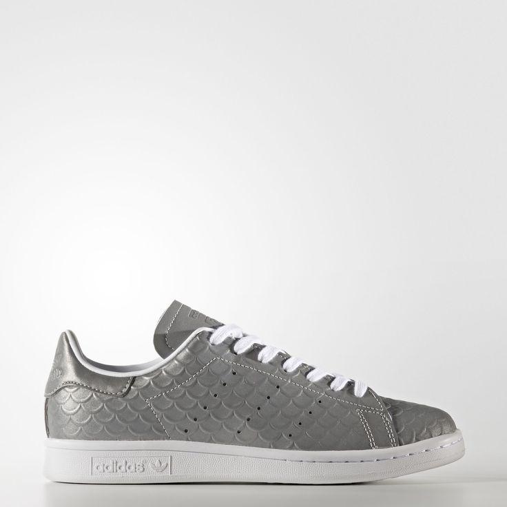 adidas - Chaussure Stan Smith Silver Metallic/Footwear White BB5159