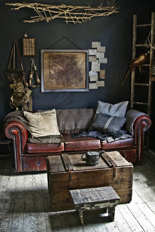 Vintage Masculine Living Room