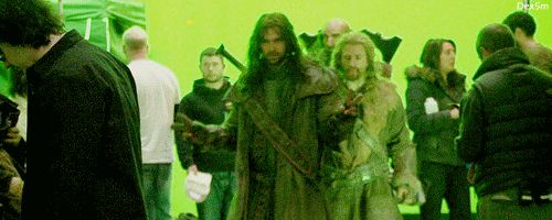 Kili and Fili walked in like they own the place. (gif) I am laughing my head off at the way Fili was swaggering! xD