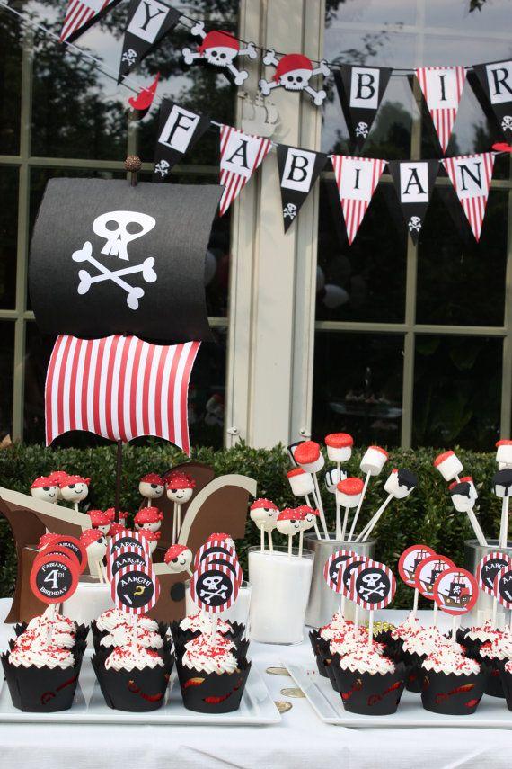 Paquete fiesta de cumpleaños pirata por JesParkerEvents en Etsy