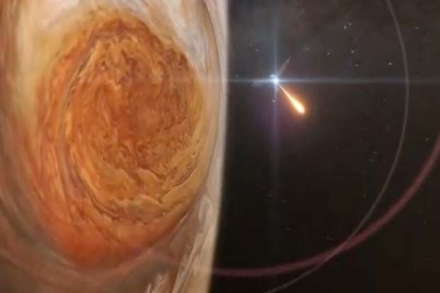 On July 4th, 2016, NASA will insert the probe into Gas Giant's orbit. The spacecraft will fly within 3000 miles of Jupiter's cloud tops, in a region of intense radiation.