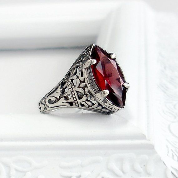 Antique garnet ring