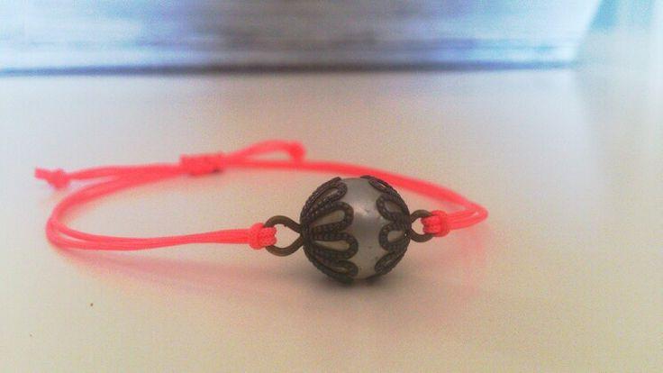 Pink handmade bracelet