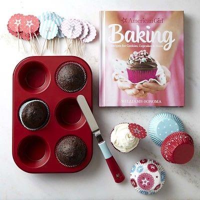 American Girl™ Cupcake Baking Essentials Set and Cookbook Gift Set #williamssonoma