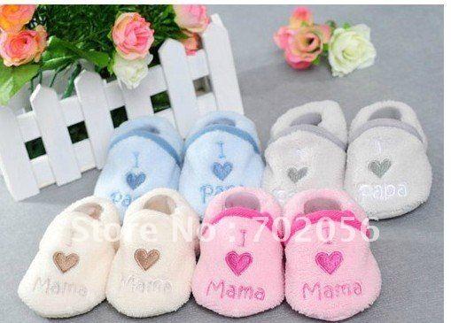 Я lovePAPA я люблю мама оптово-soft детские сначала ходунки обувь носки для носки мальчиков обуви / много # 2191
