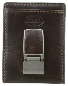 Bi-fold money clip wallet. Smooth leather, multiple card slots and a magnetic money clip give it a distinctive look with plenty of storage. #Wallet #Money Clip #Leather