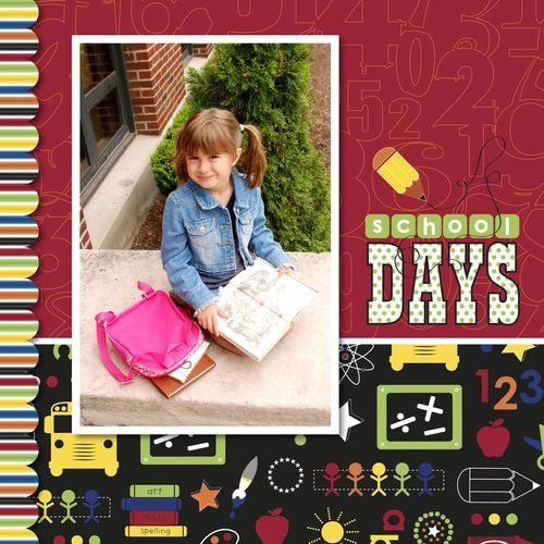 School Days Cover Digital Scrapbooking Idea