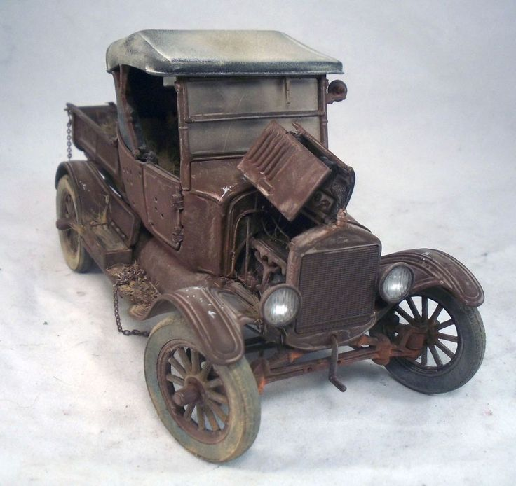1925 Ford Model T Runabout Danbury Mint Barn Find Custom Weathered Original 1 24