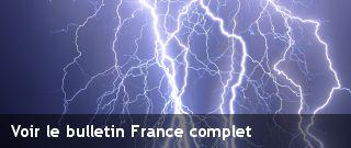 Quels risques orageux sur ma commune ? Prévision du risque météorologique par commune : risque orage, grêle, tornade, foudre, rafales de vent. - KERAUNOS